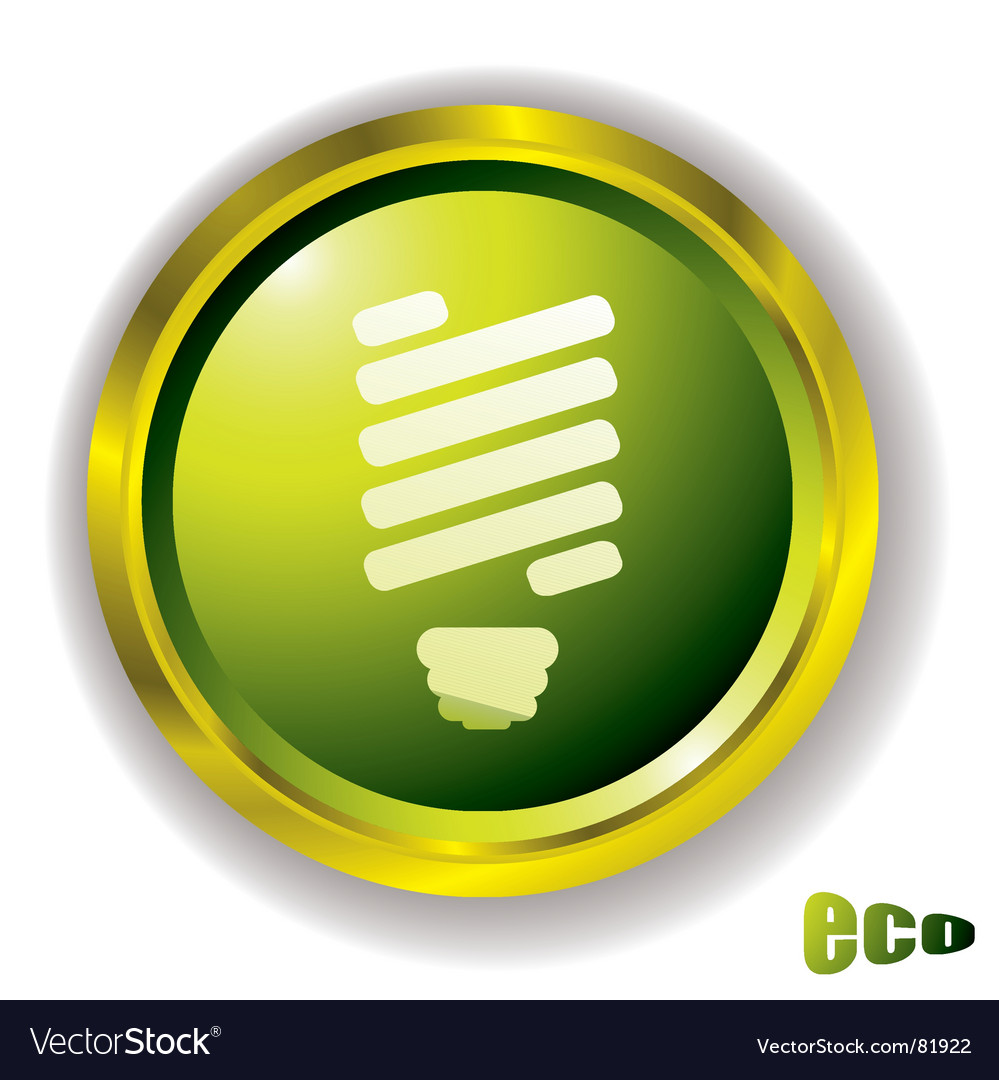 Eco bulb icon vector
