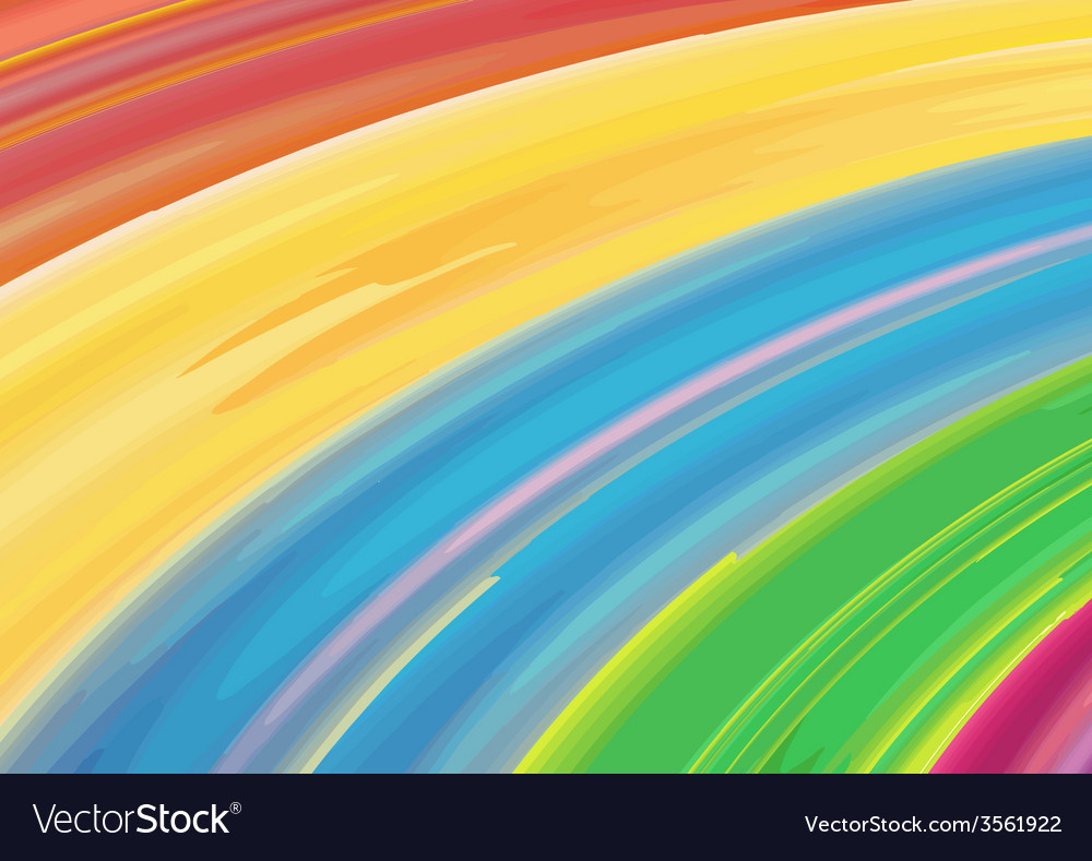 Watercolor rainbow background vector