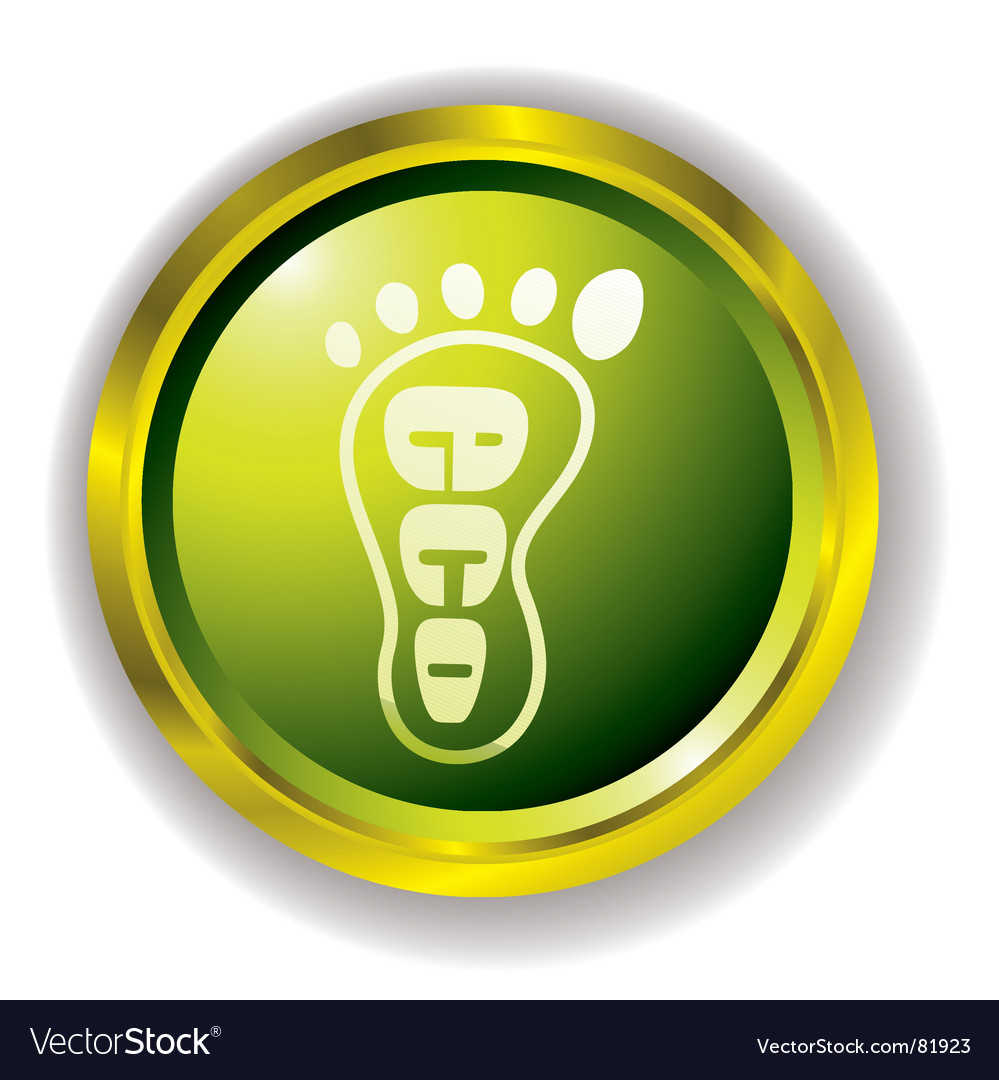 Eco foot icon vector