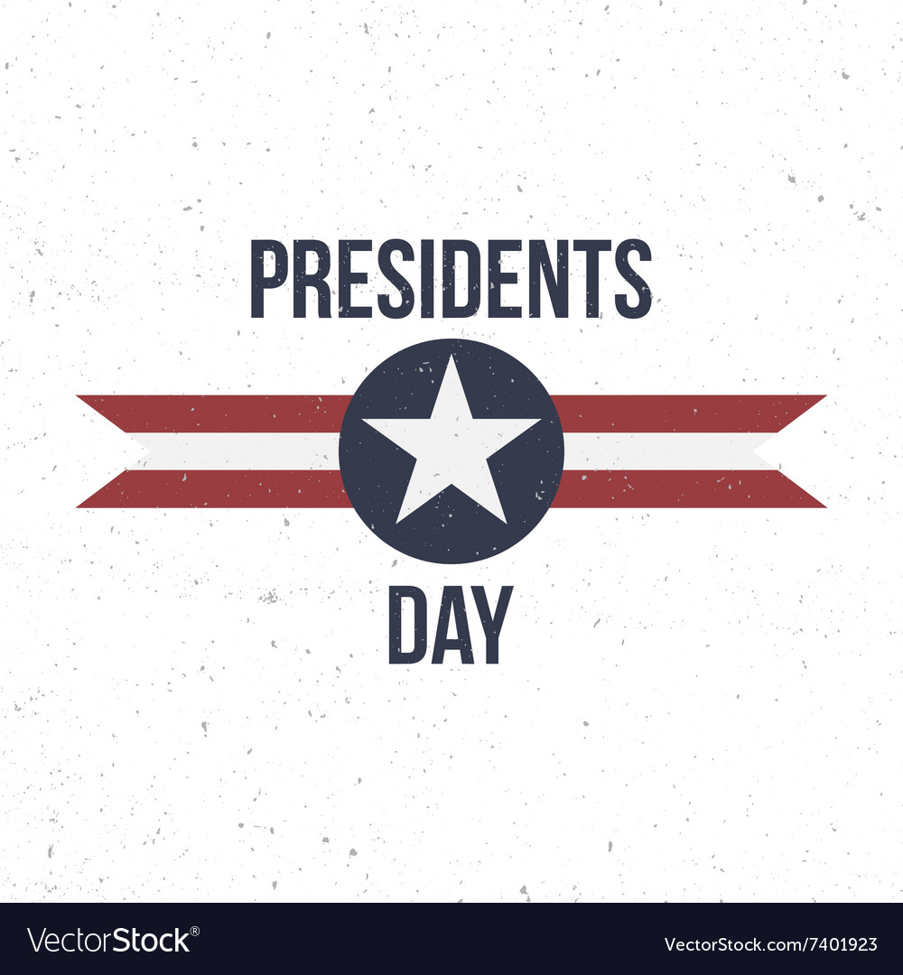 Presidents day label with text vector