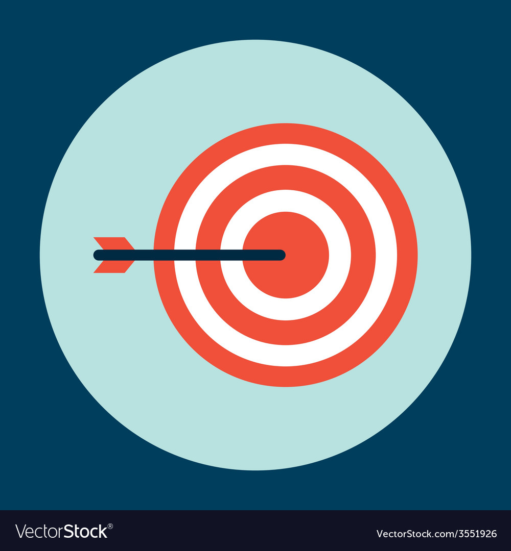 Target arrow design vector