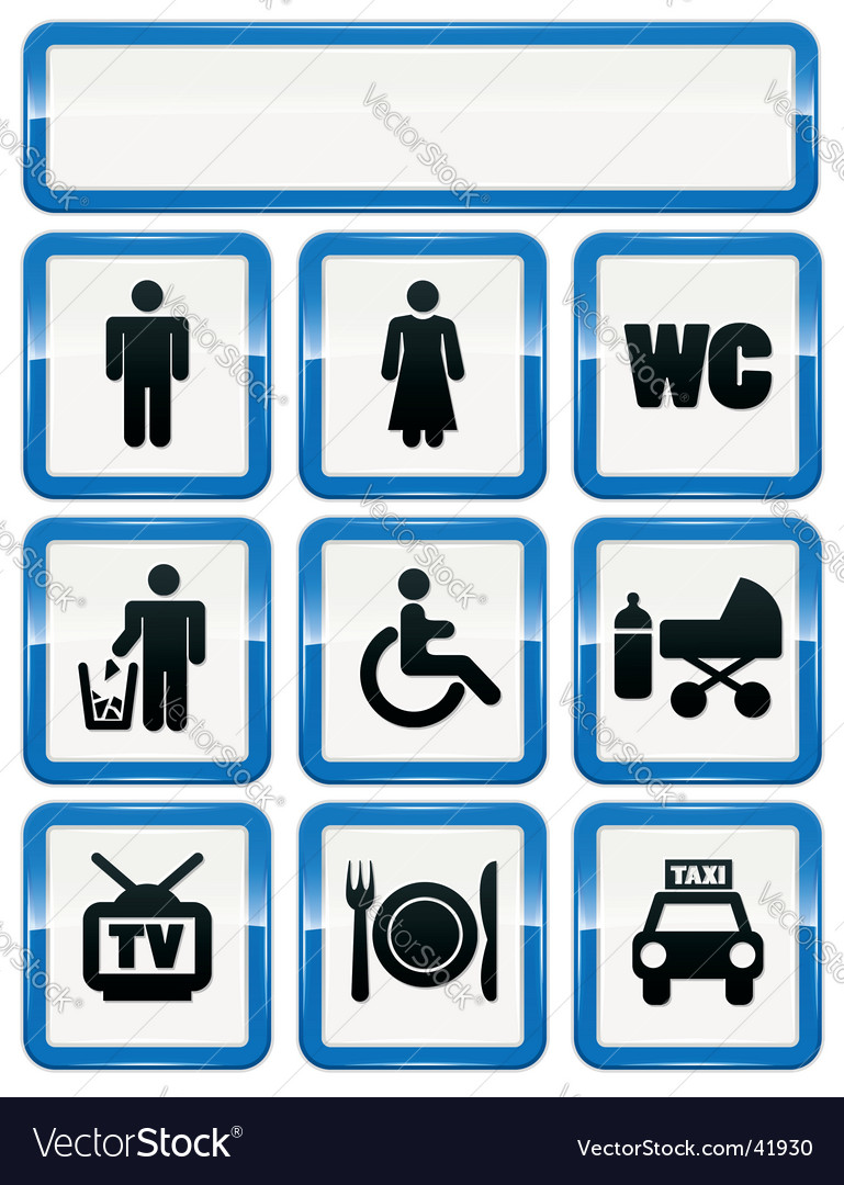 Icons set of service signs vector