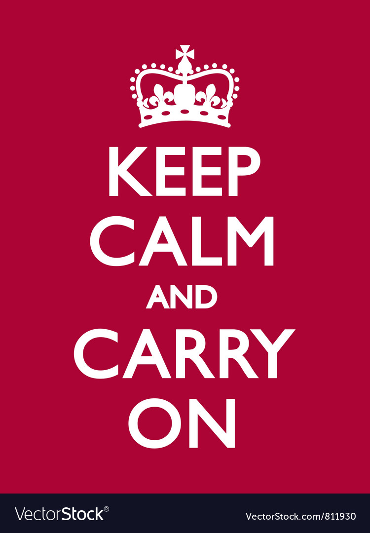 Keep calm carry on deep red vector