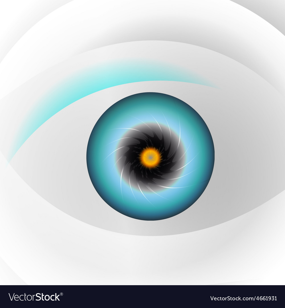 Globe blue eye vector