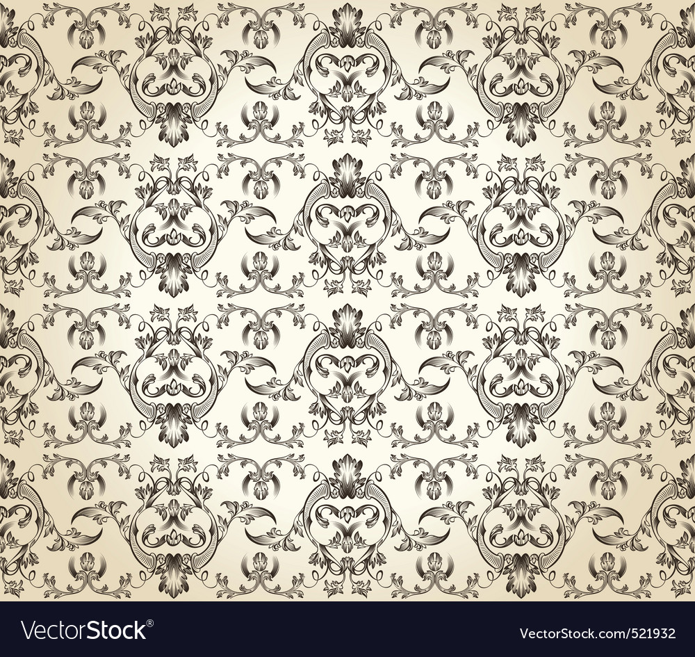 Seamless background vintage retro pattern vector