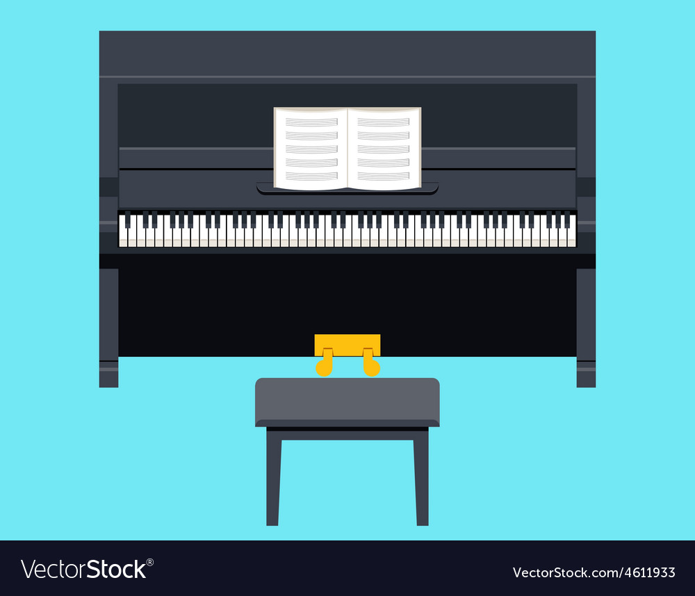 Piano icon concept symbol flat design on stylish vector
