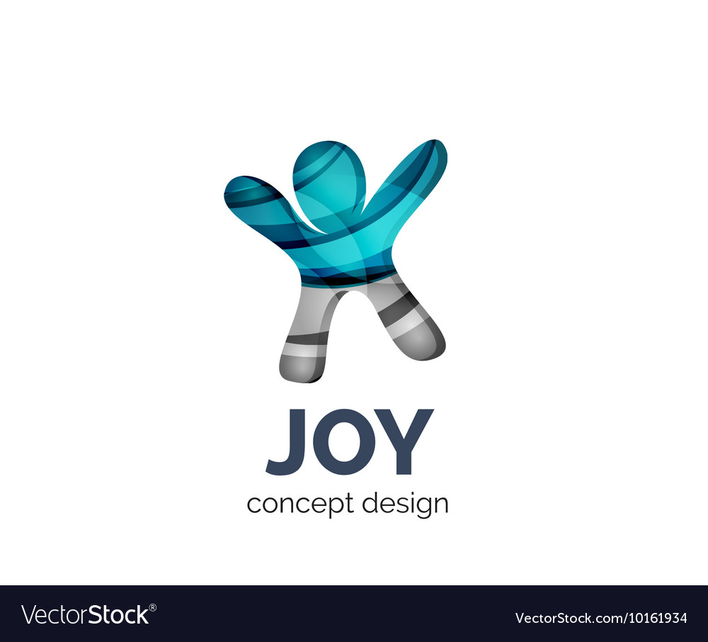 Happy person logo business branding icon vector