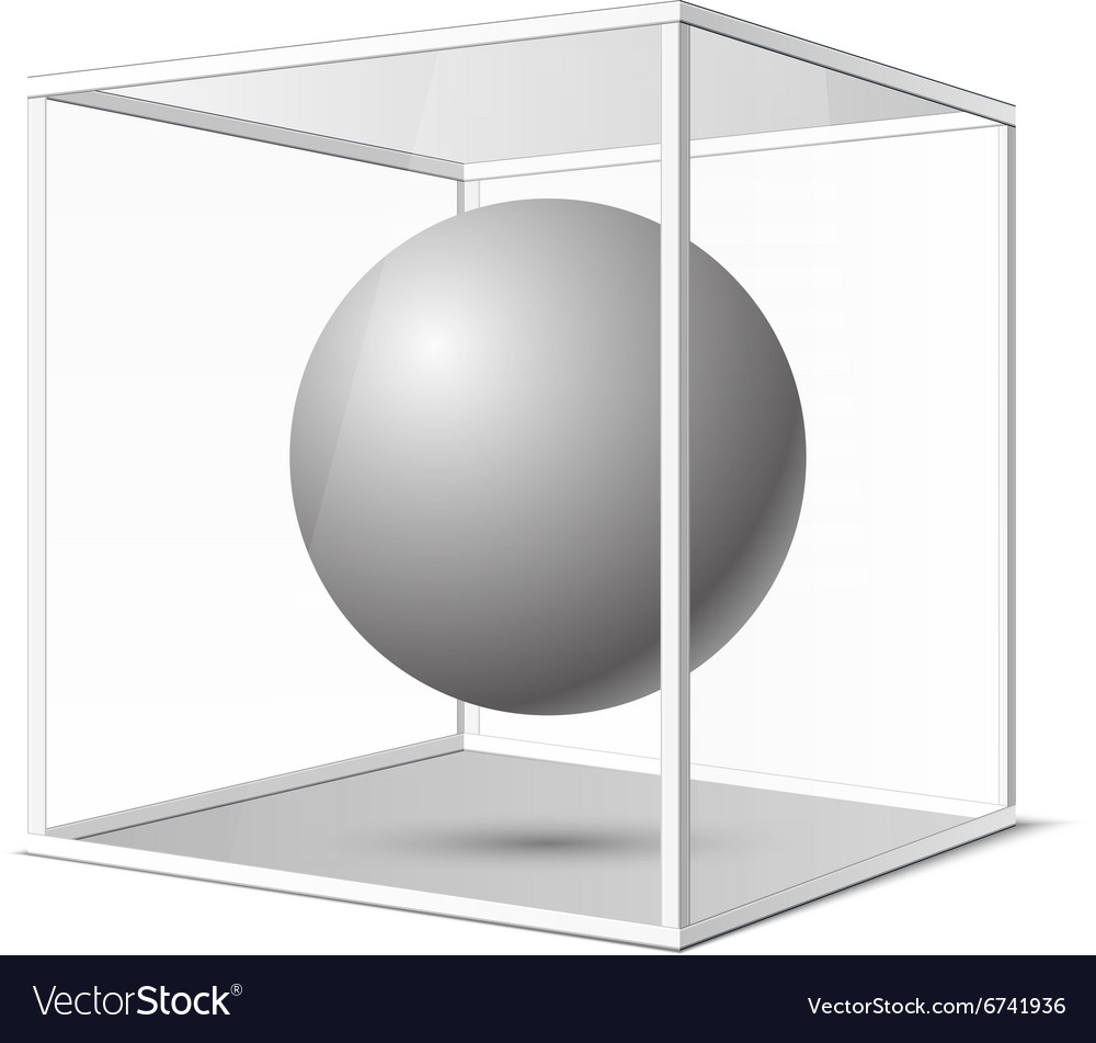 Four transparent gray glass cubes eps10 vector