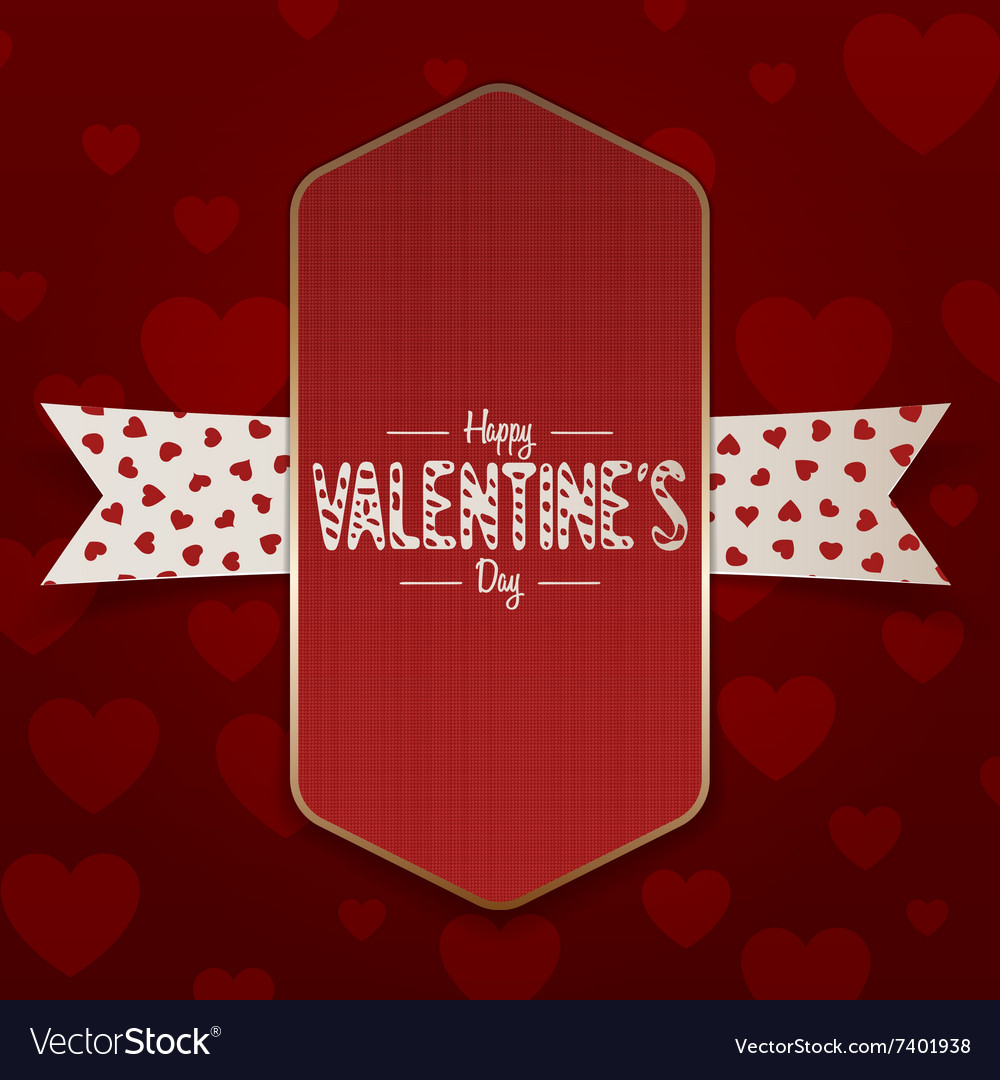 Vertical realistic valentines day emblem vector
