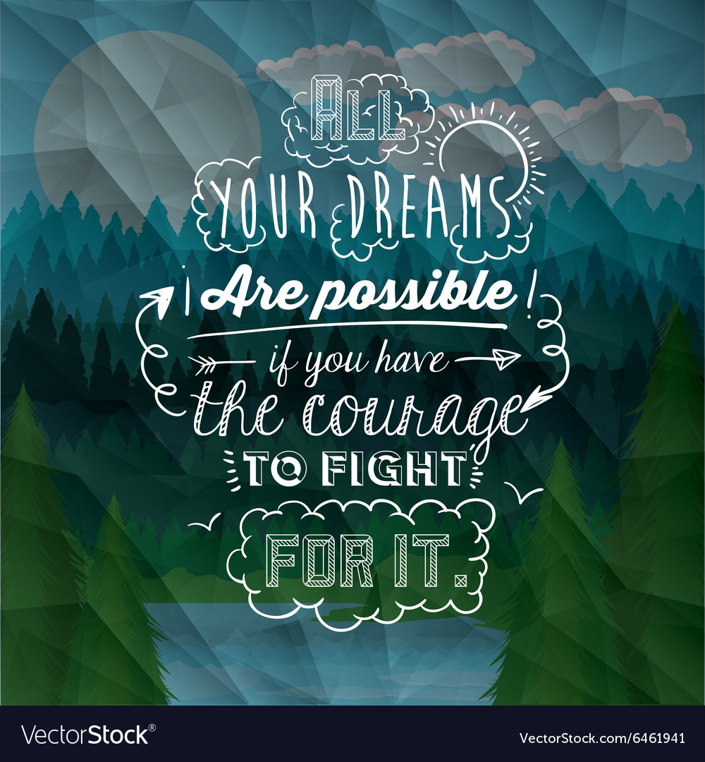 Motivational poster message design vector