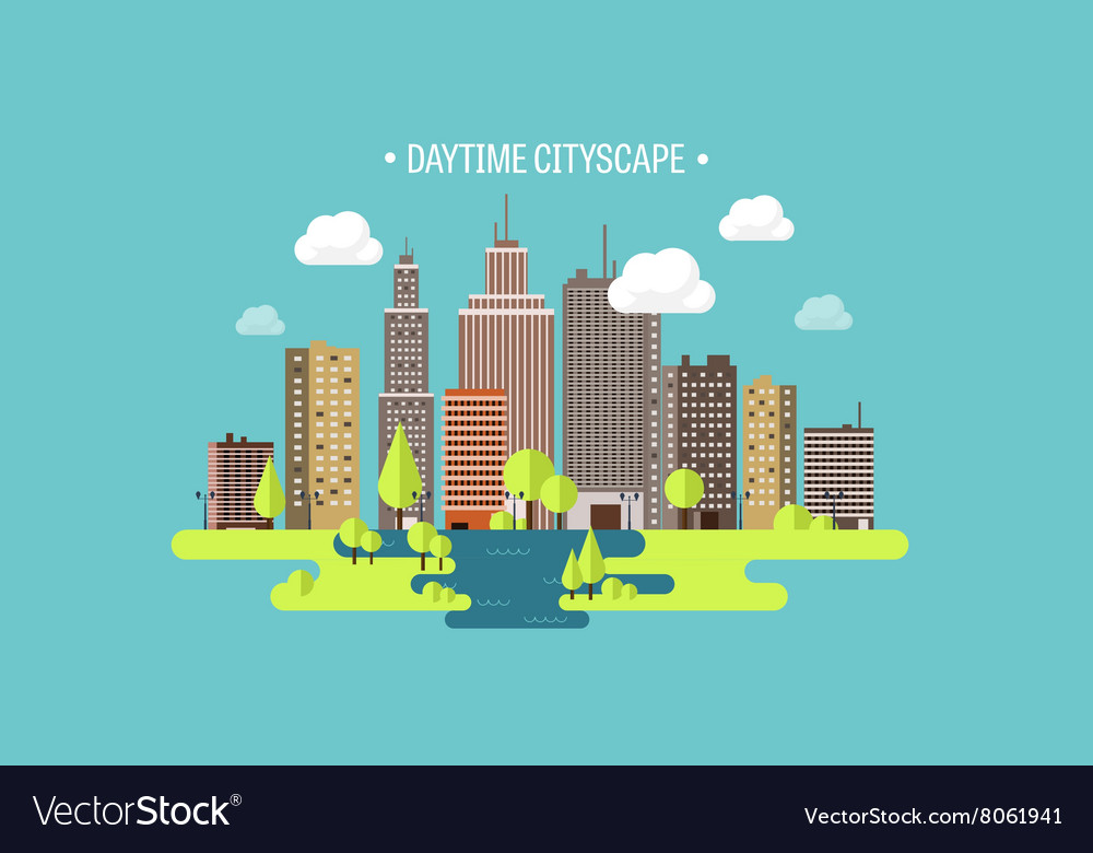 Spring summera city vector