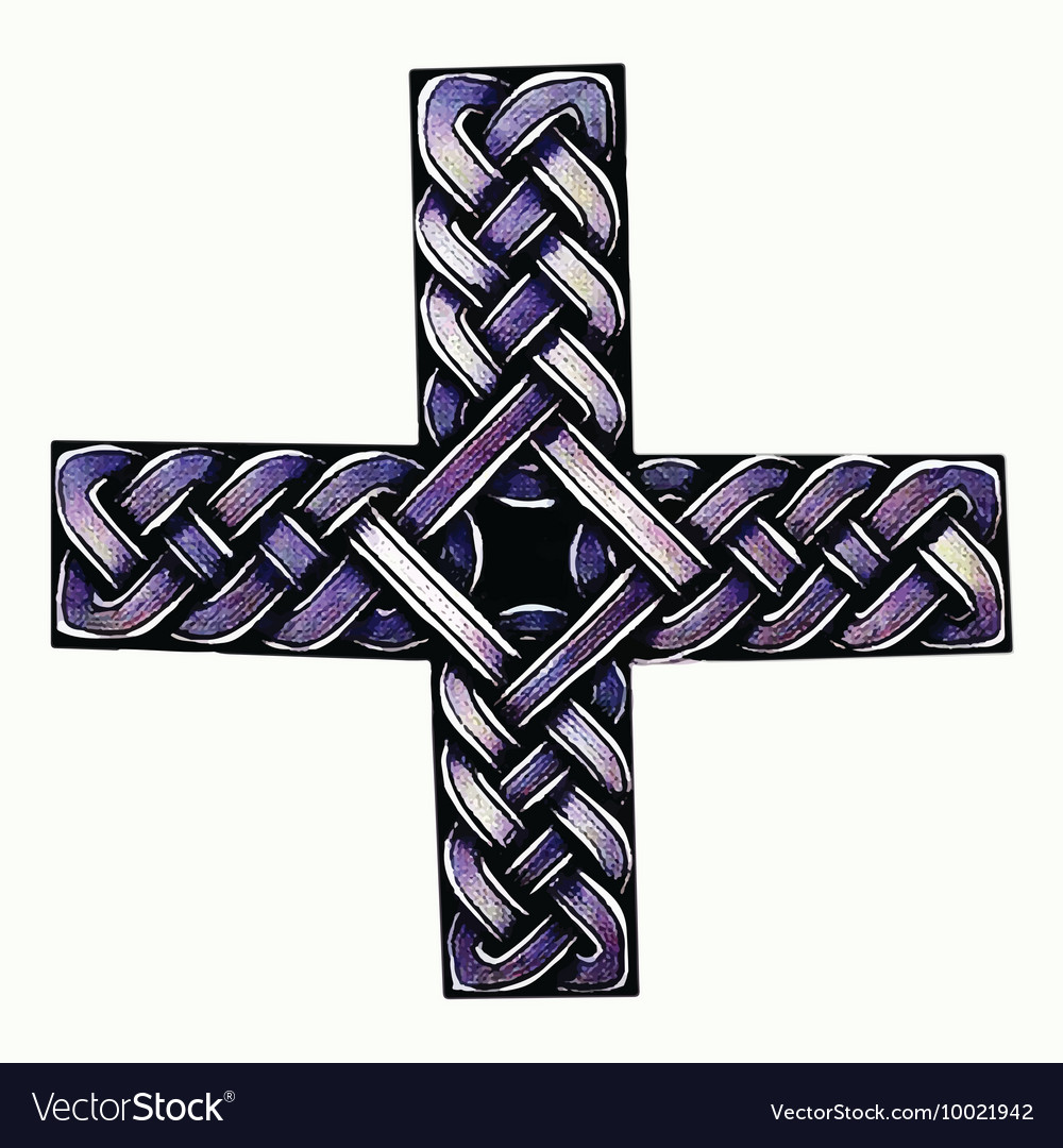 Abstract of celtic cross vector