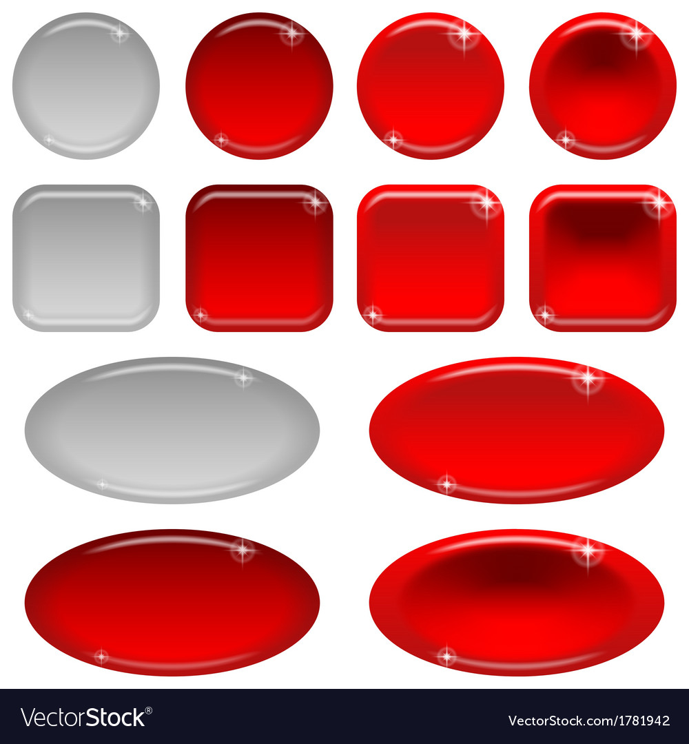 Glass buttons set vector