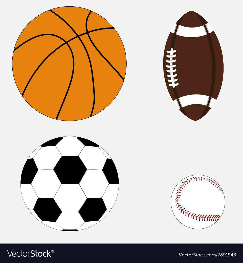 Set of four balls vector