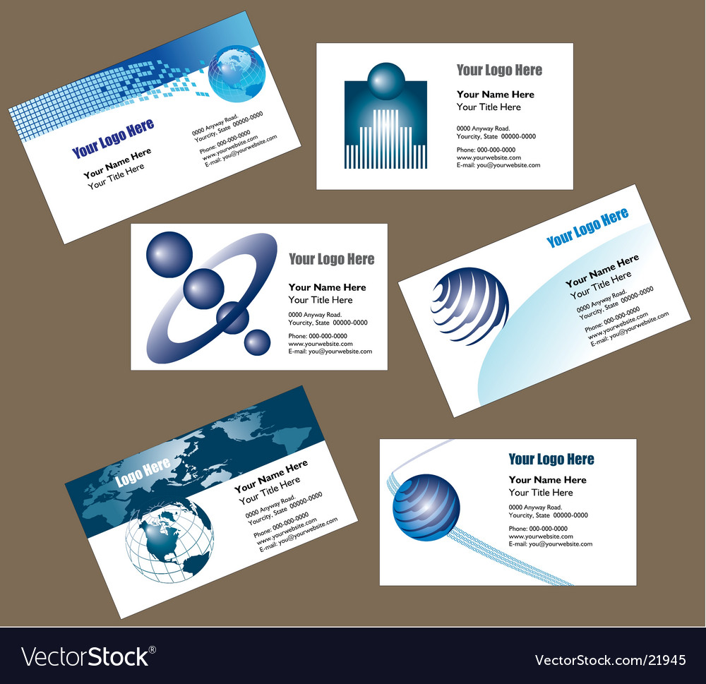 Biz cards vector