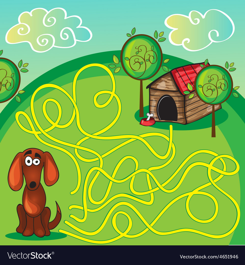 Cartoon of education maze vector