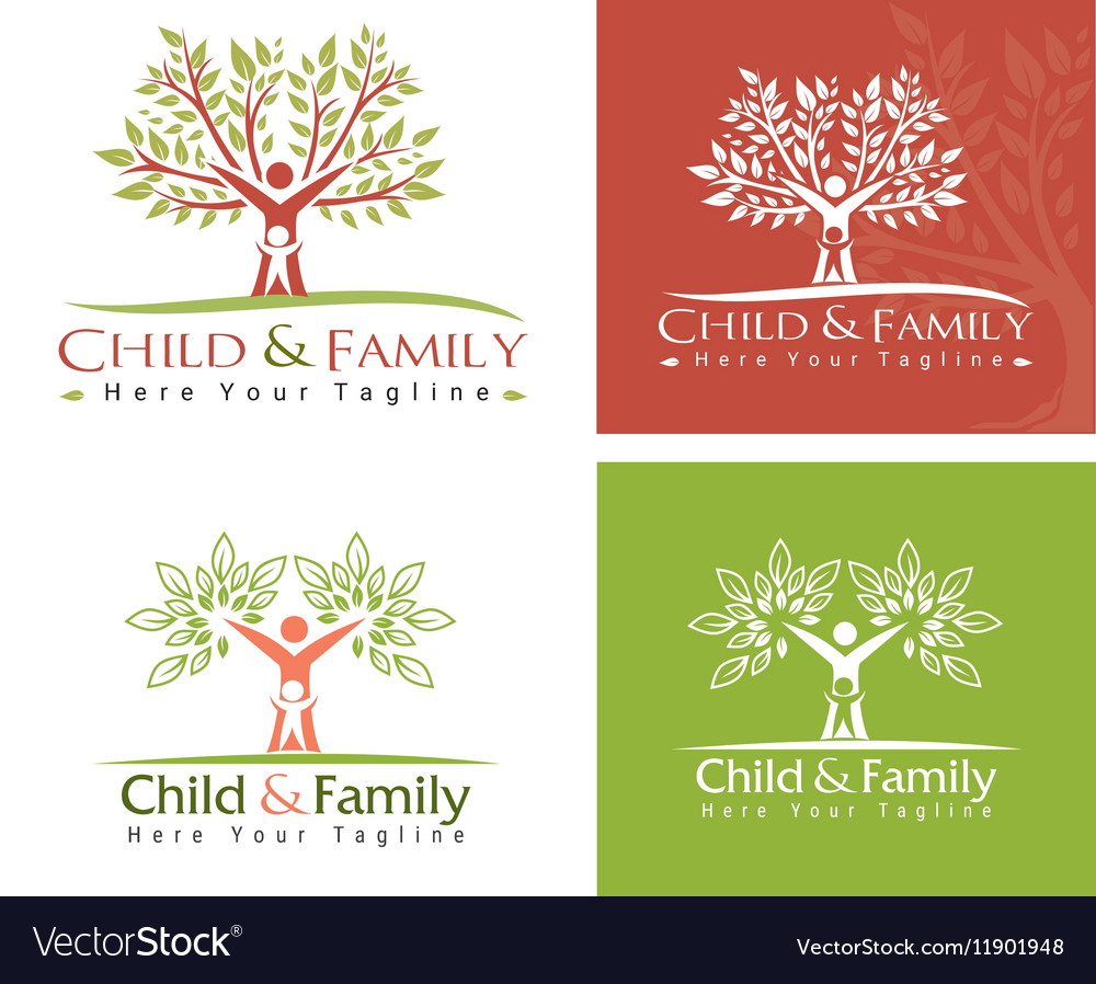 Child and family vector