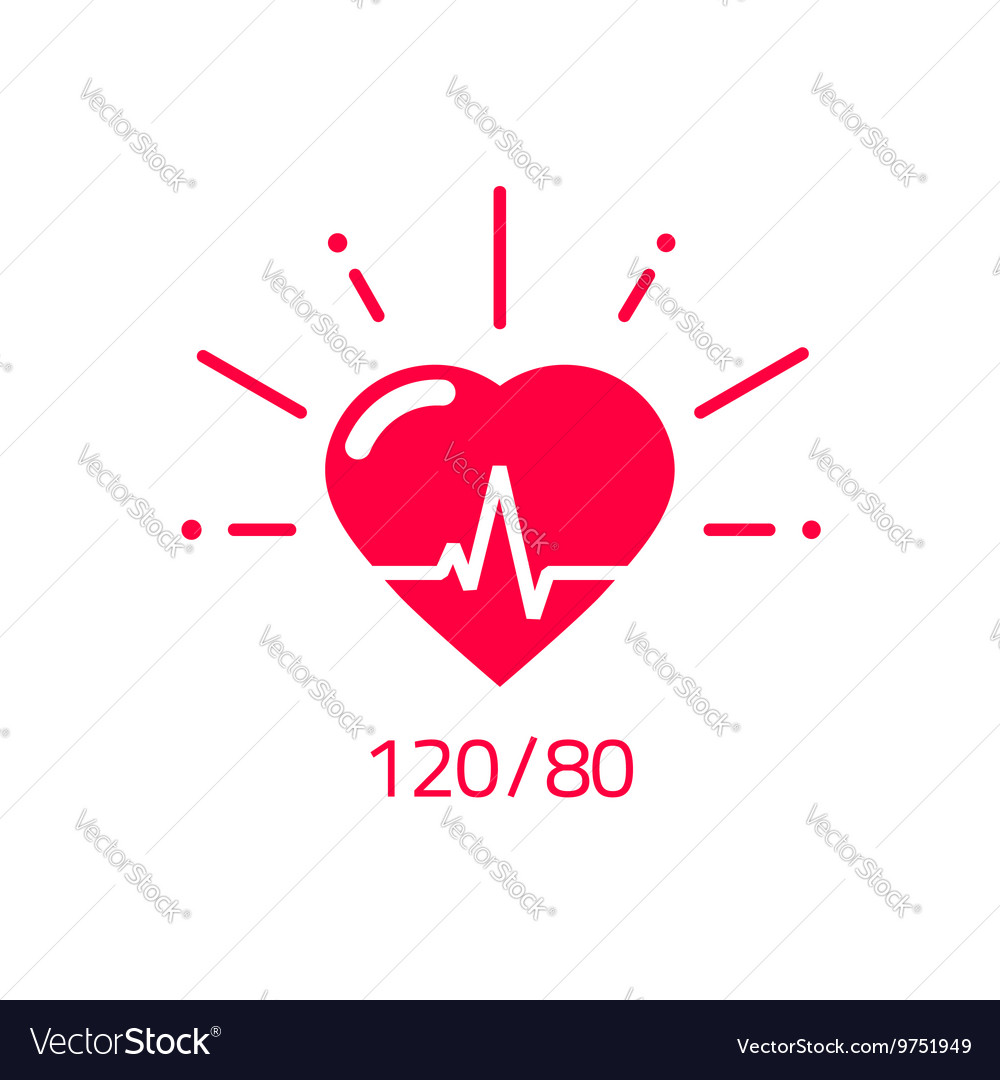 Blood pressure icon good health heart logo vector