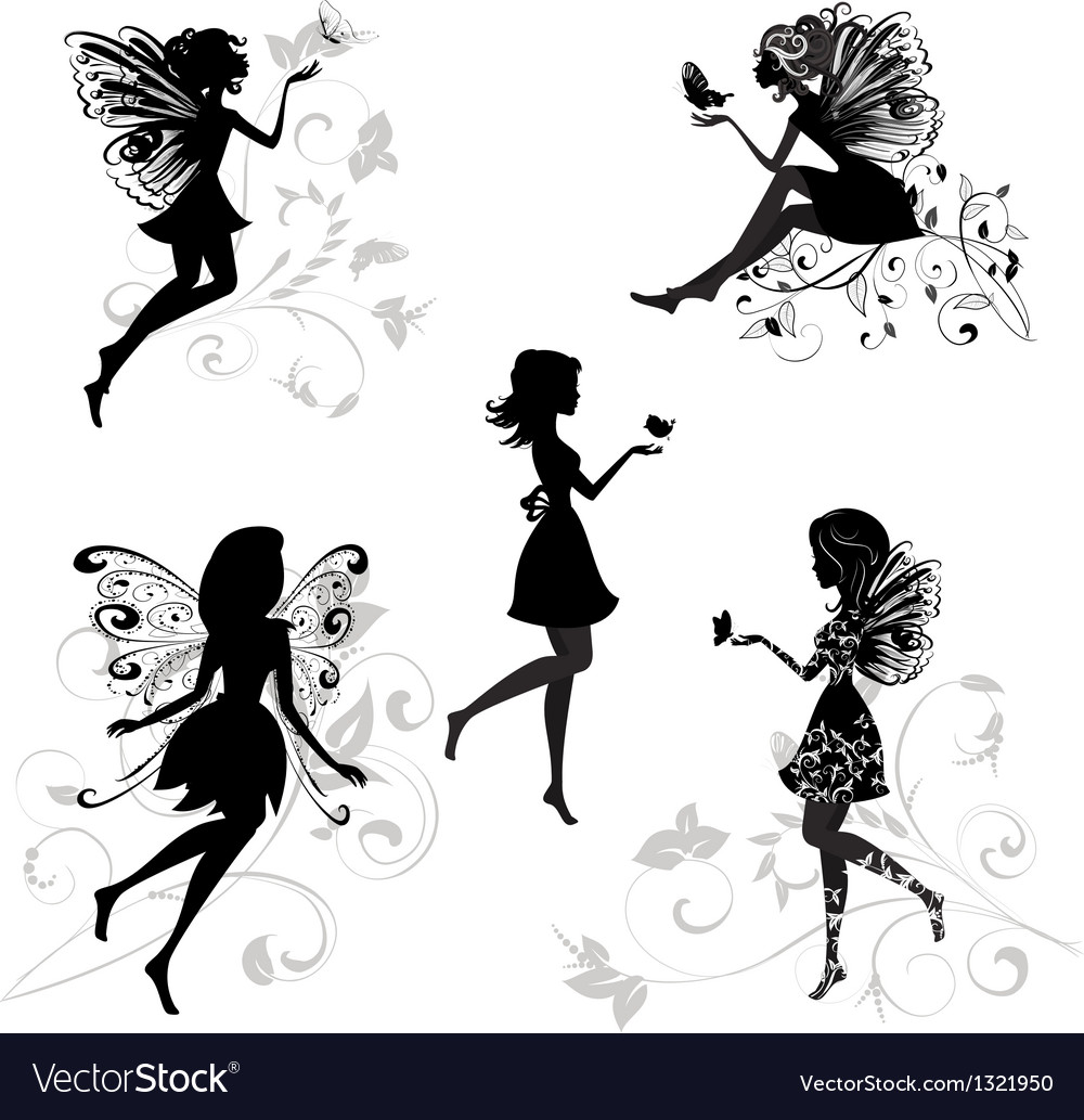 Forest fairy set vector