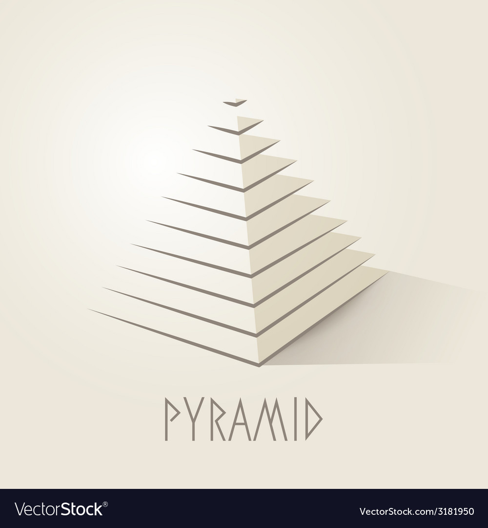 Pyramid shape abstract symbol vector