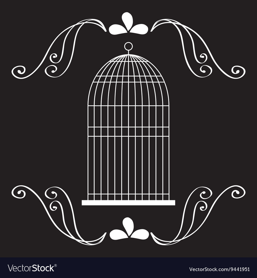 Birdcages icon decoration object vintage concept vector