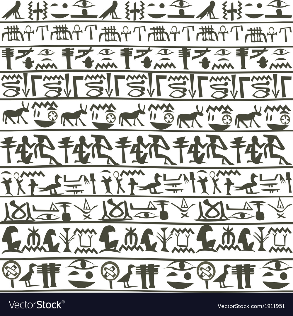 Egyptian hieroglyphics background vector