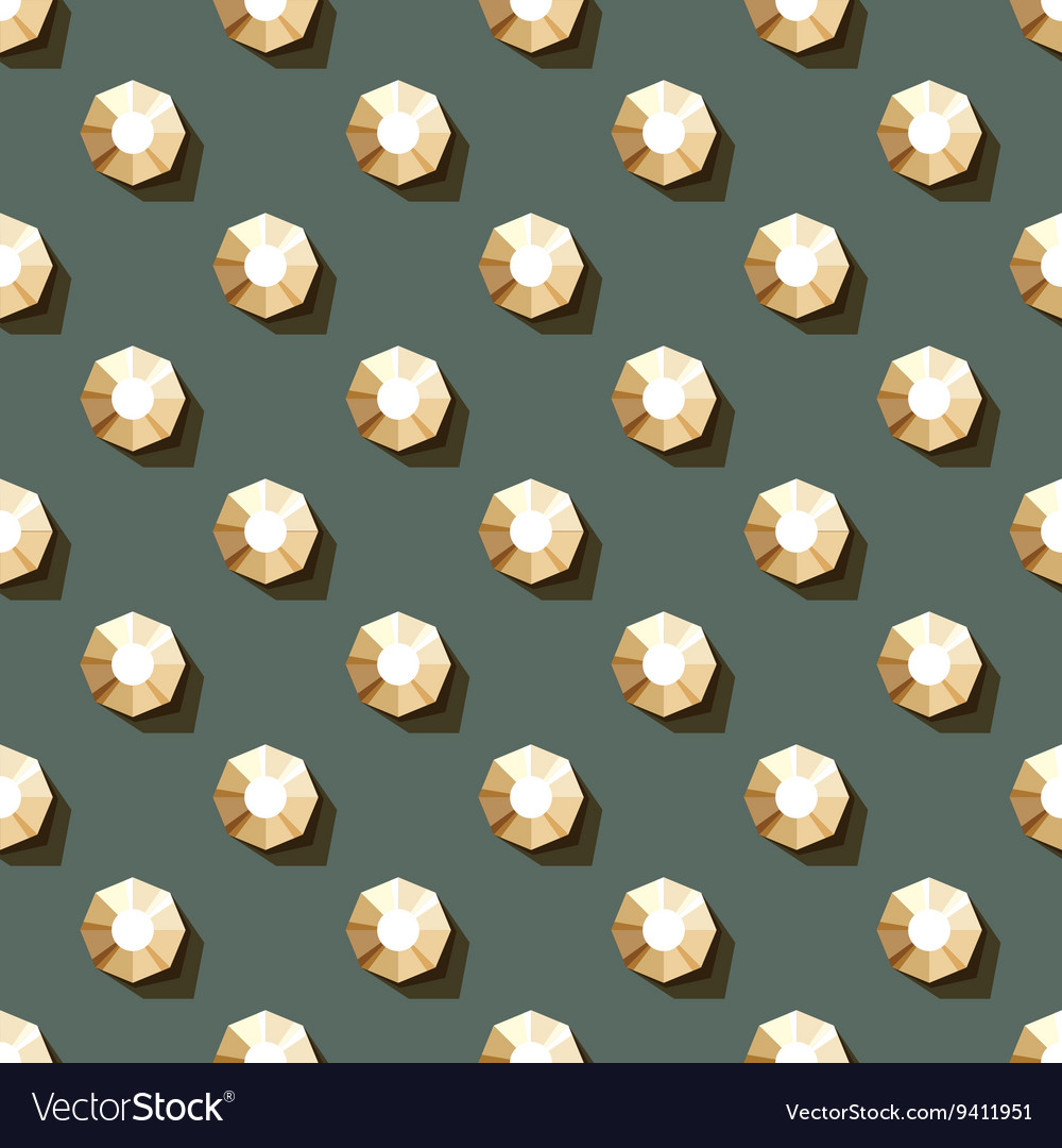 Seamless pattern of rhinestones vector