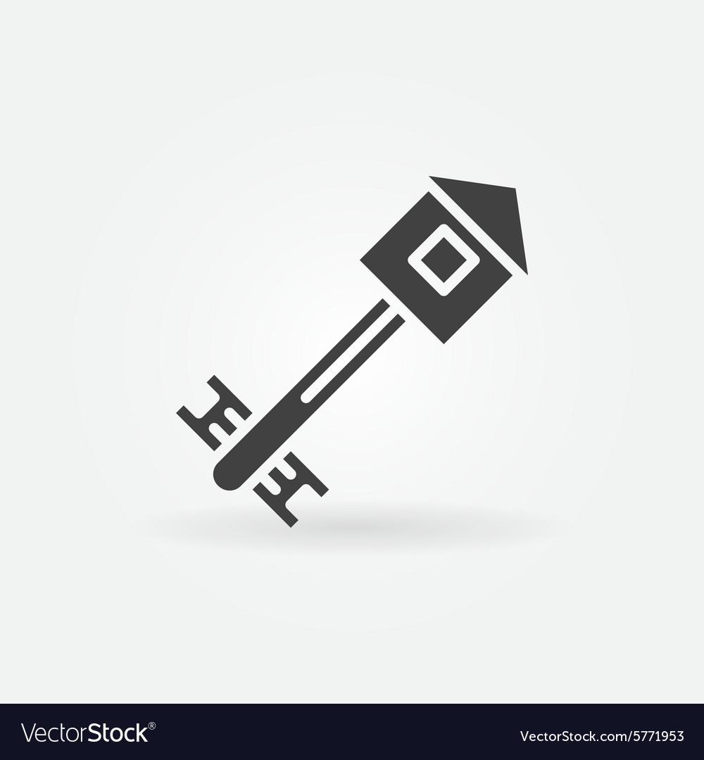 House key icon or logo vector