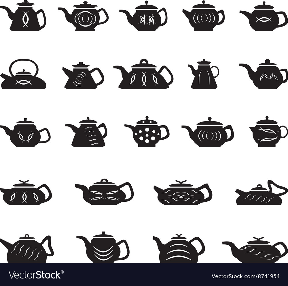 Teapot chinese japanese asian oriental vector