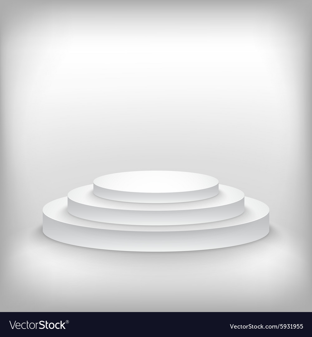 Photorealistic winner podium stage background vector
