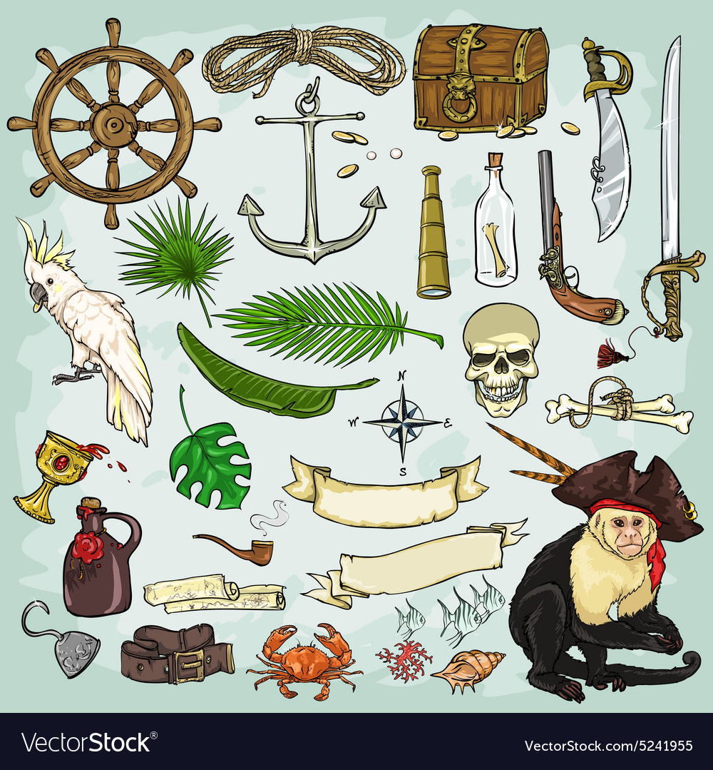 Pirates collection vector