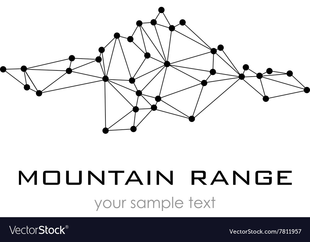 Mountain range graphic logo logo template vector