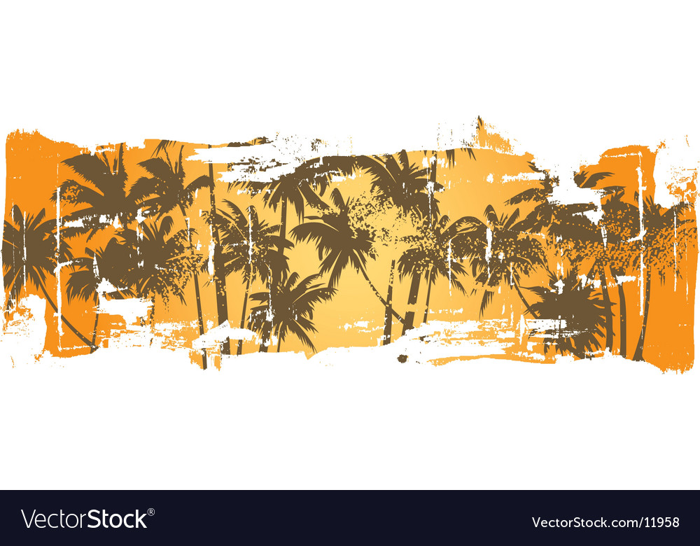 Grunge hawaii scene vector