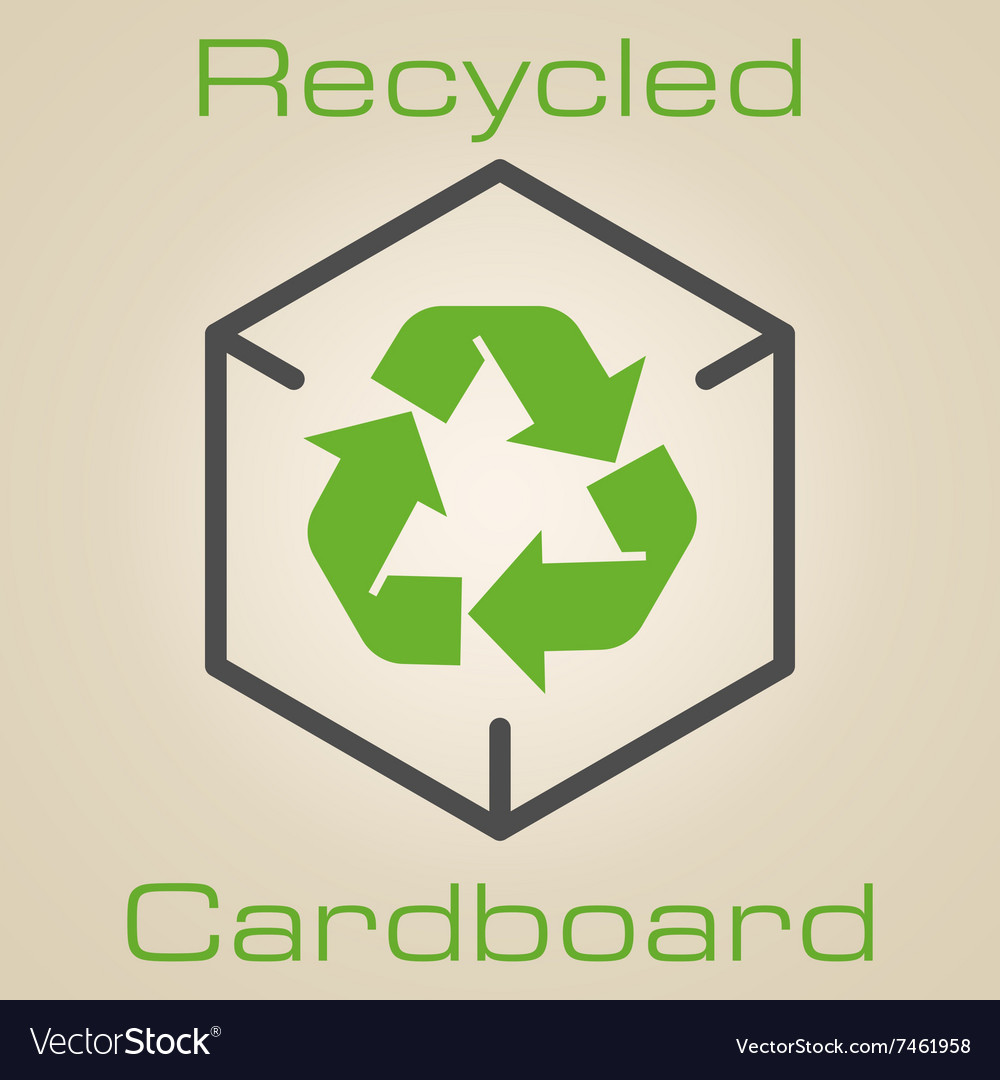 Logo recycled cardboard vector