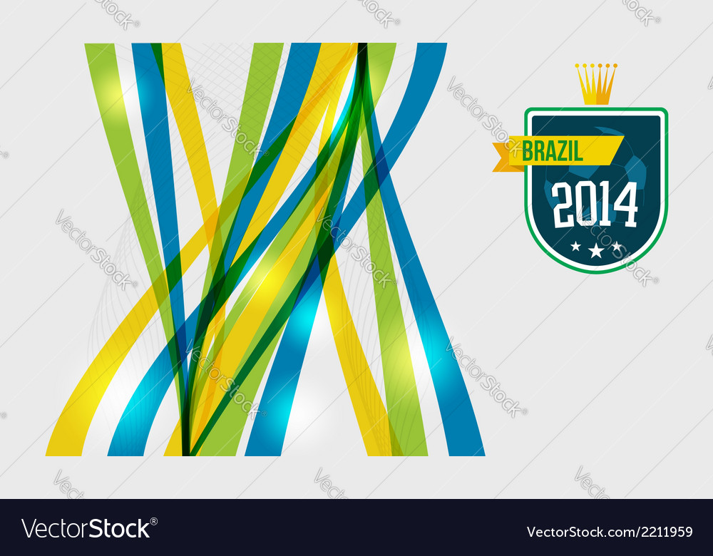 Abstract geometric brazil design vector