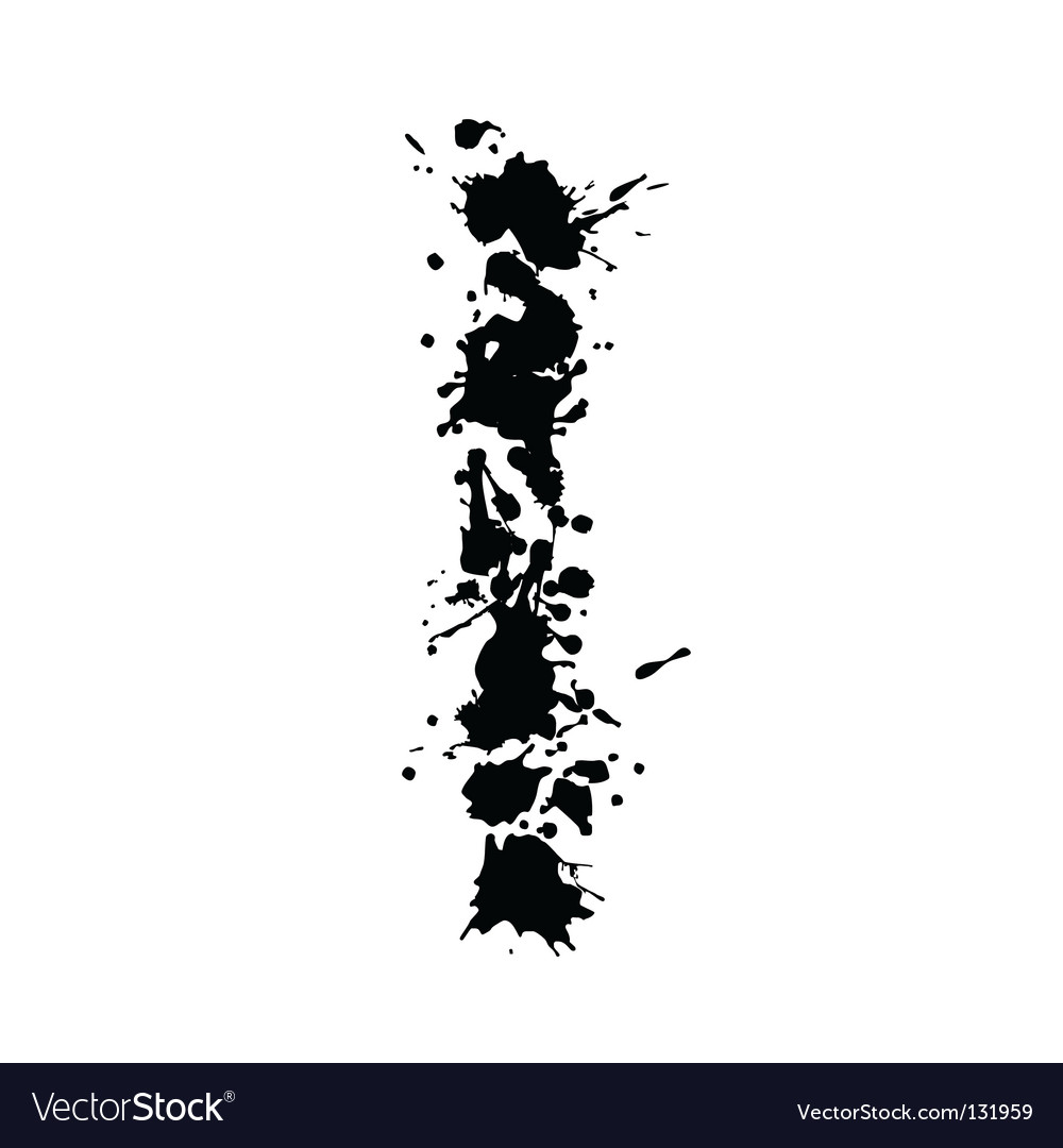 Alphabet ink i vector