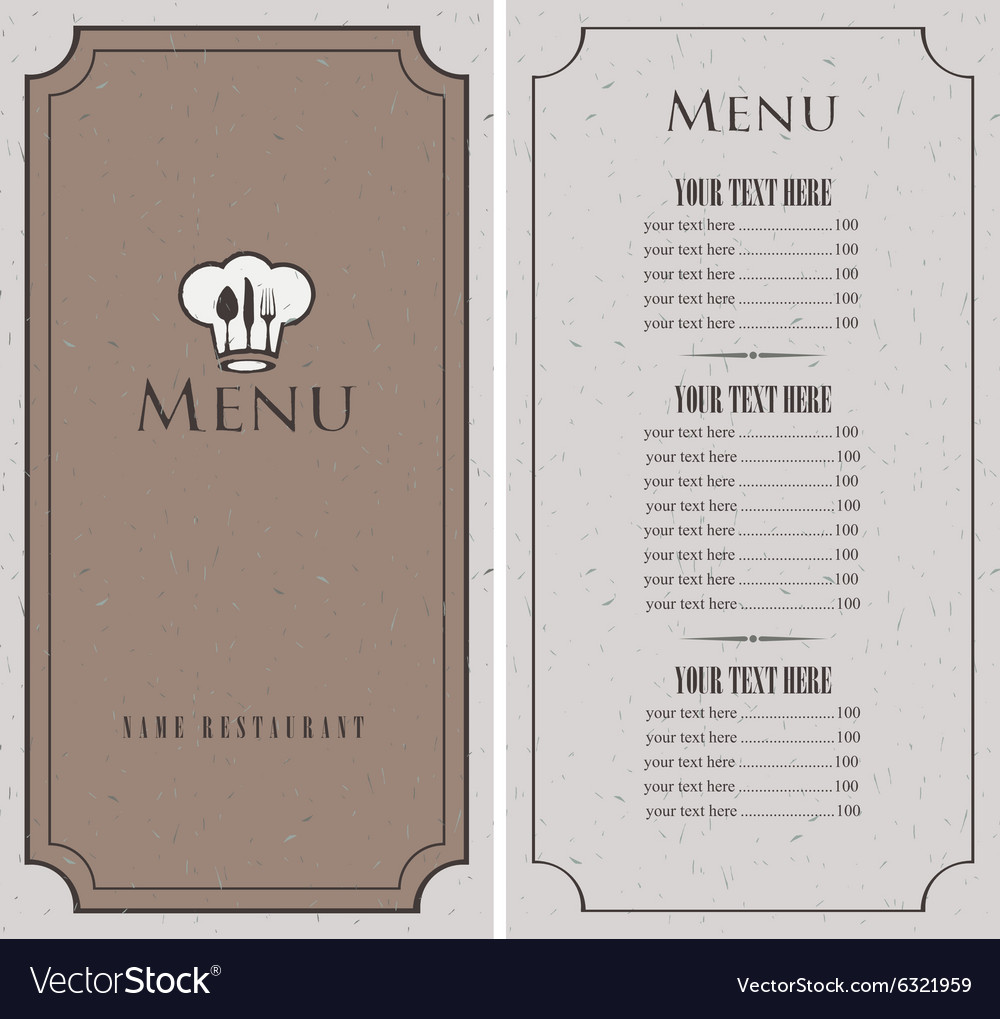 Menu for a cafe vector