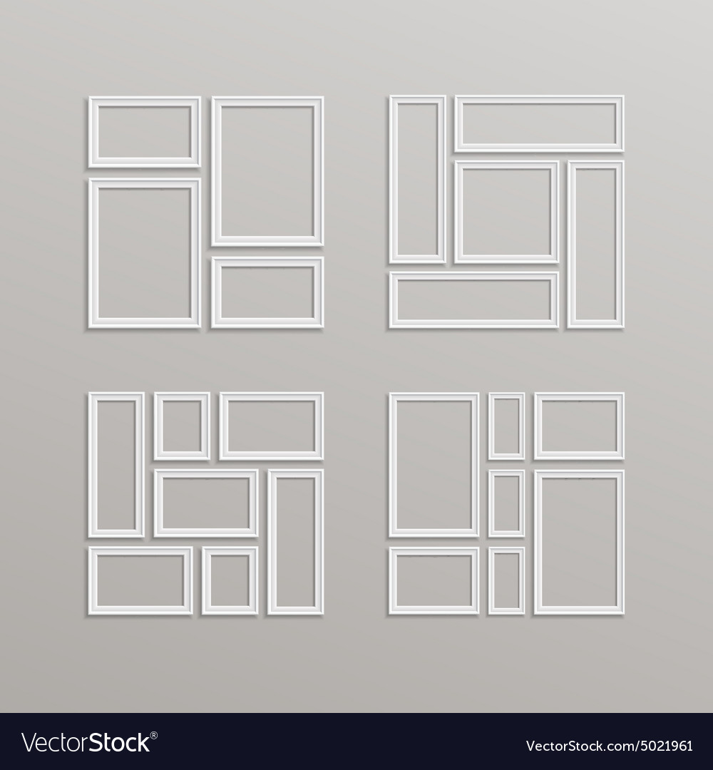 Blank picture frame template composition vector