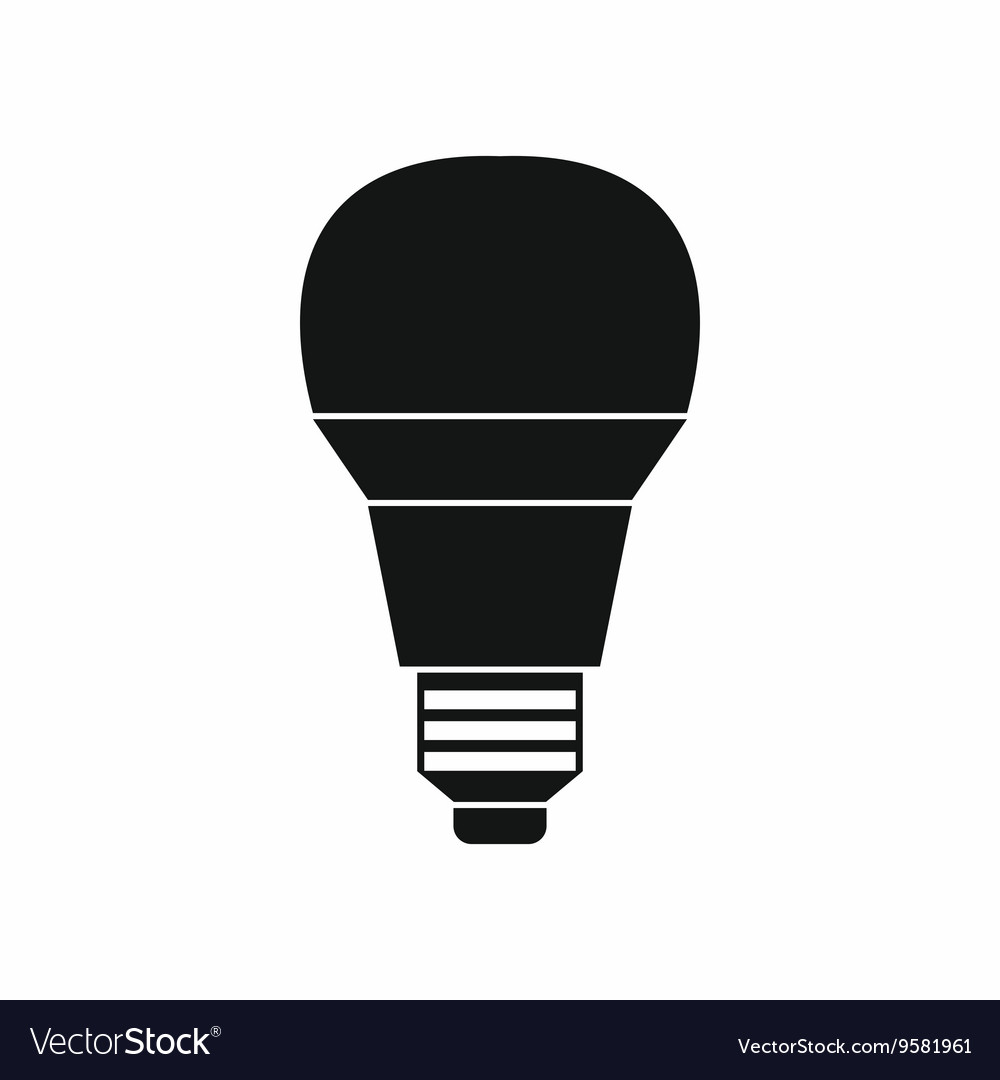Glowing led bulb icon simple style vector