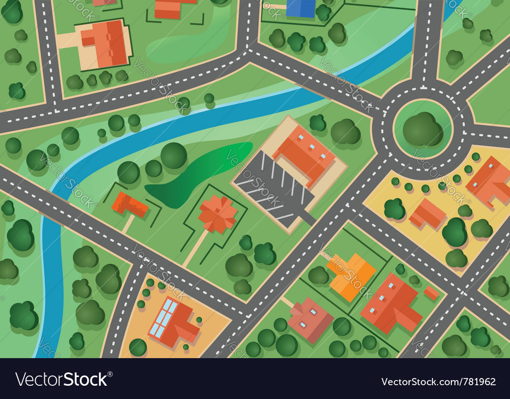 Suburb map vector