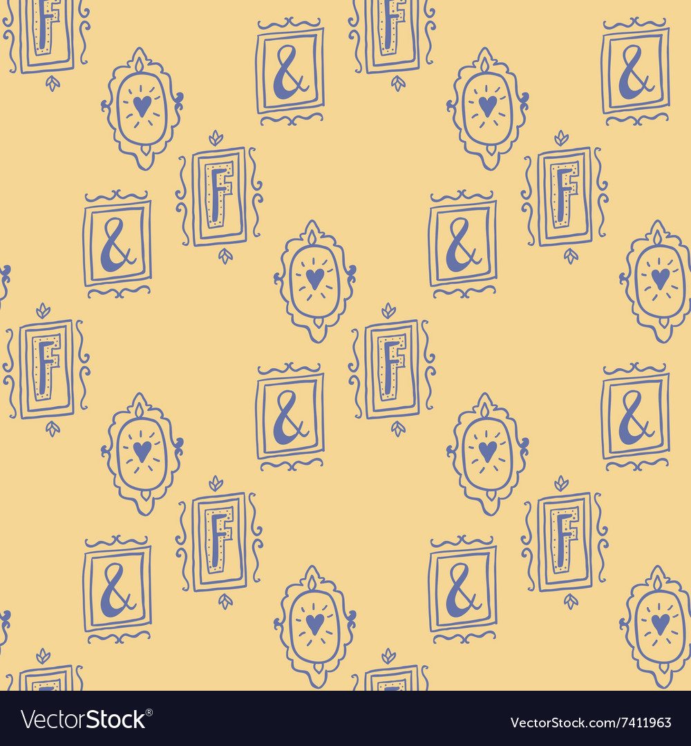 Stay fancy seamless pattern vector