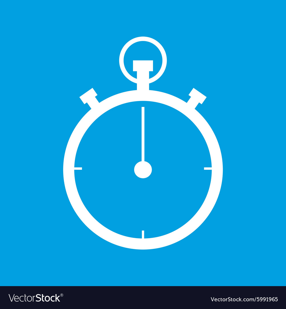 Stopwatch icon simple vector