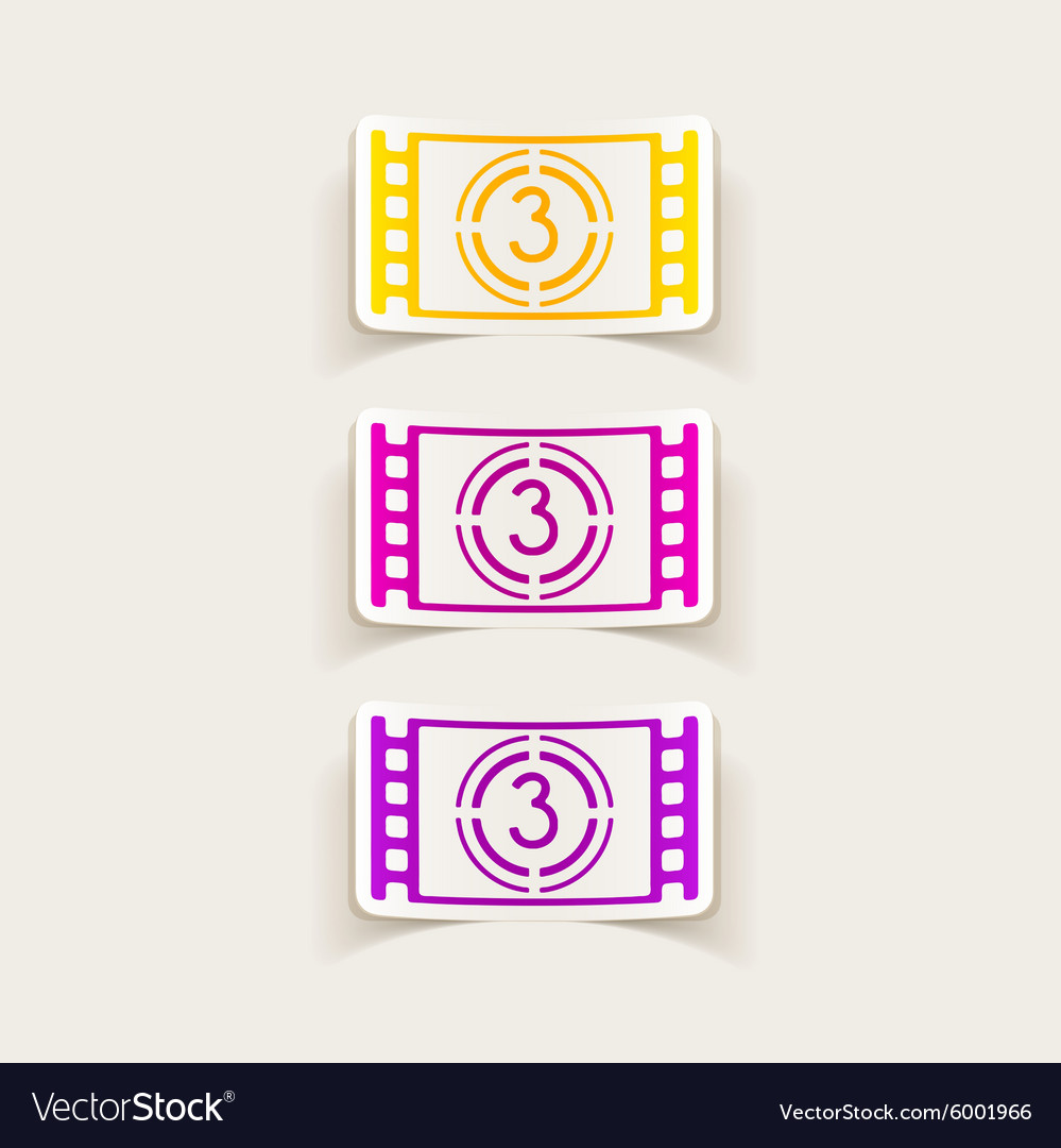 Realistic design element countdown vector