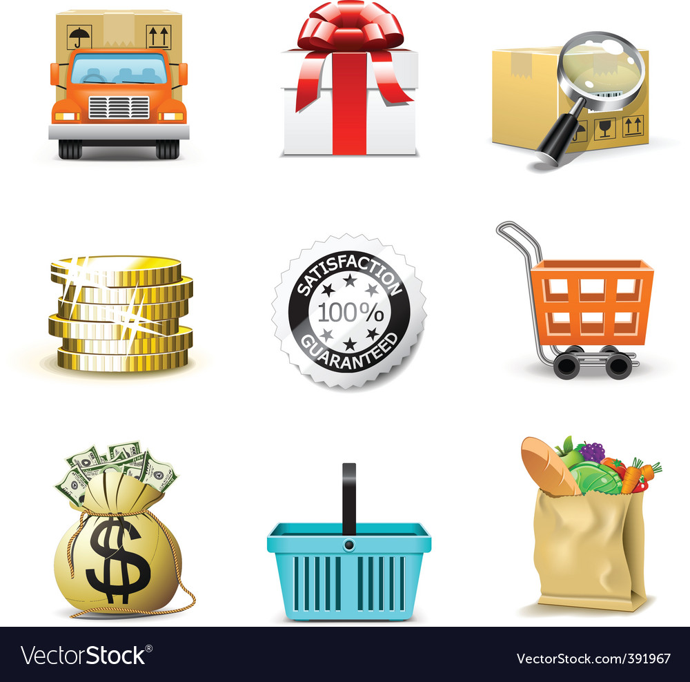 Shopping icons  bella series vector