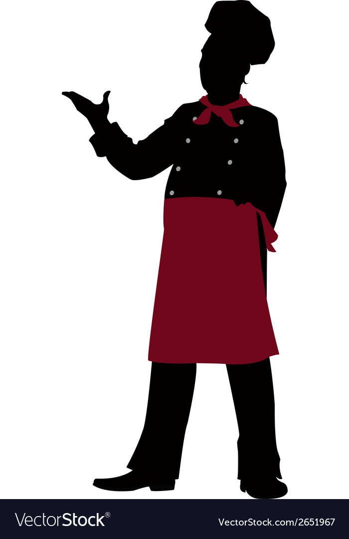 Silhouette chef  vector