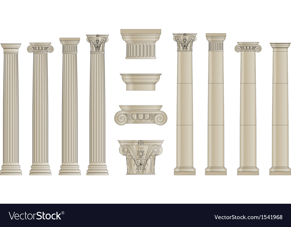 Set of colums vector