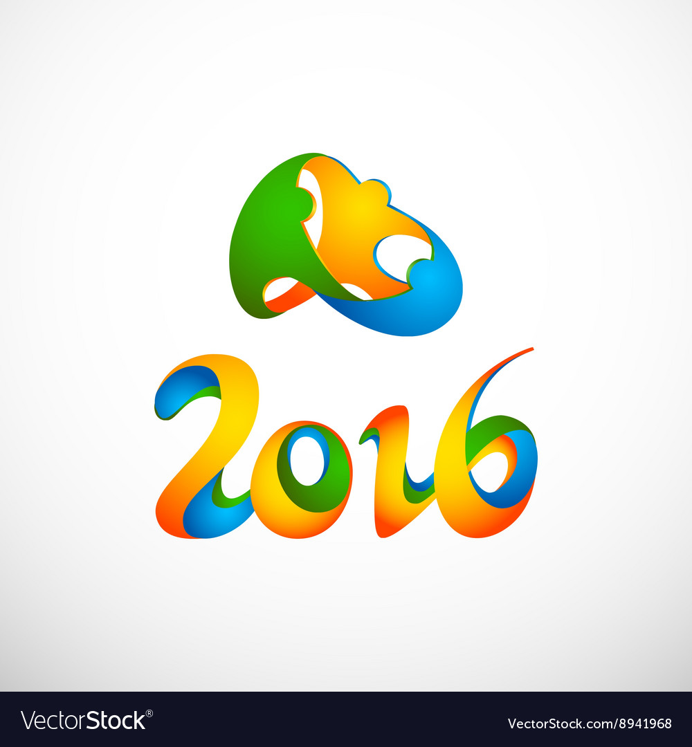 Sign rio olympics games 2016 vector