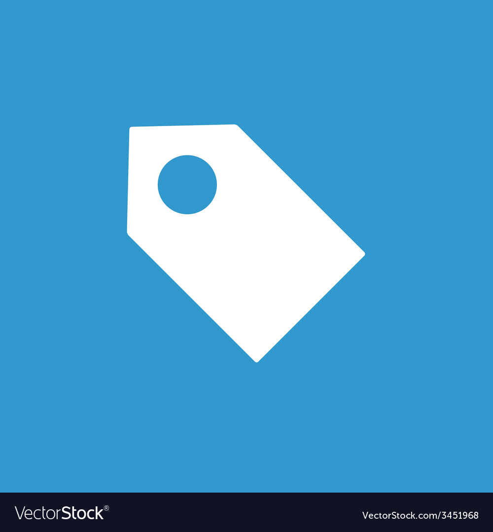 Tag icon white on the blue background vector
