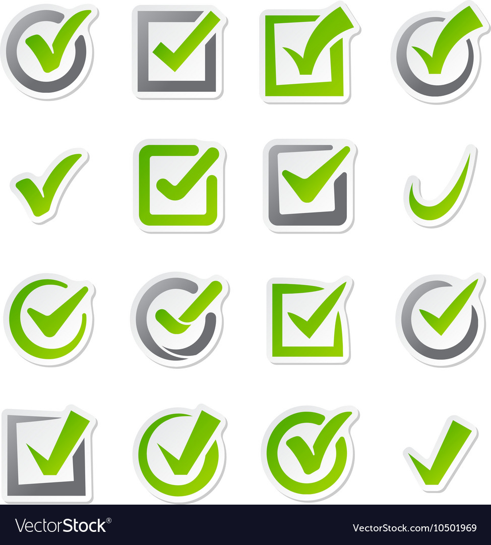 Check box icons set vector