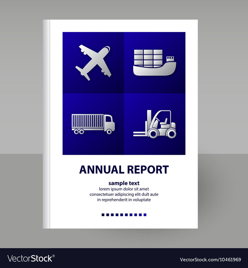 Cover annual report transportation vector